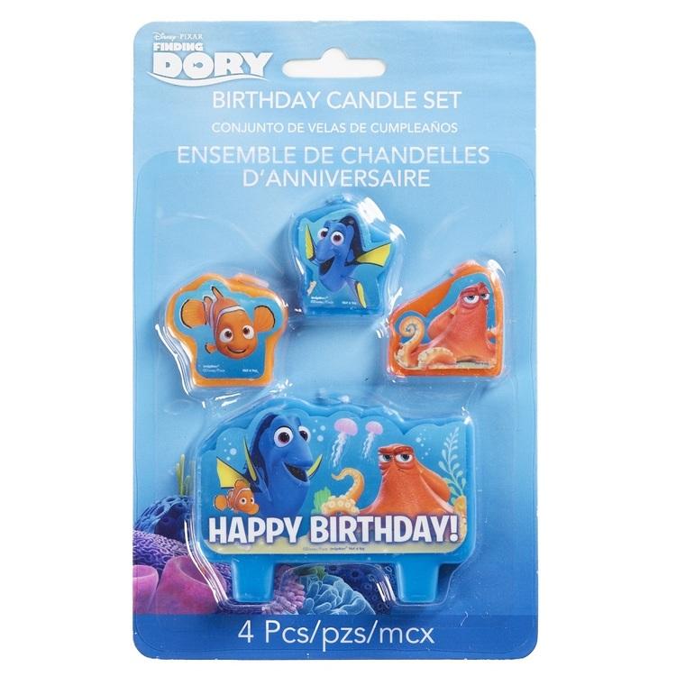Disney Pixar Finding Dory Birthday Candle Set