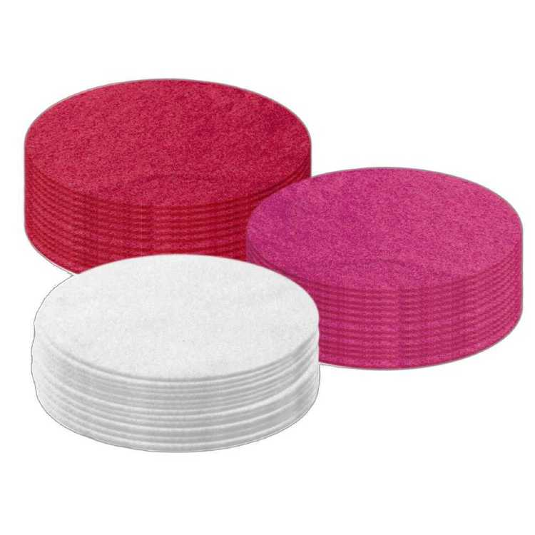 Arbee Round Felt 20 Cm Value Pack