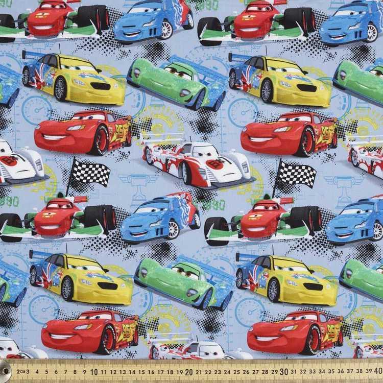 Disney Pixar Racers Edge Cards Printed Poplin