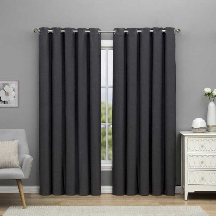 Emerald Hill Turner Eyelet Curtain - Everyday Bargain