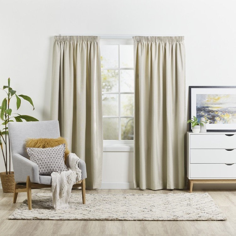 Emerald Hill Turner Pencil Pleat Curtain - Everyday Bargain