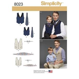 Simplicity Pattern 8023 Boys' & Men's Vest