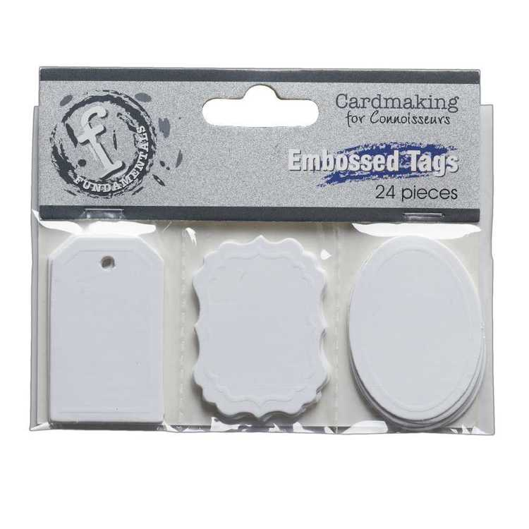 Fundamentals Embossed Tags