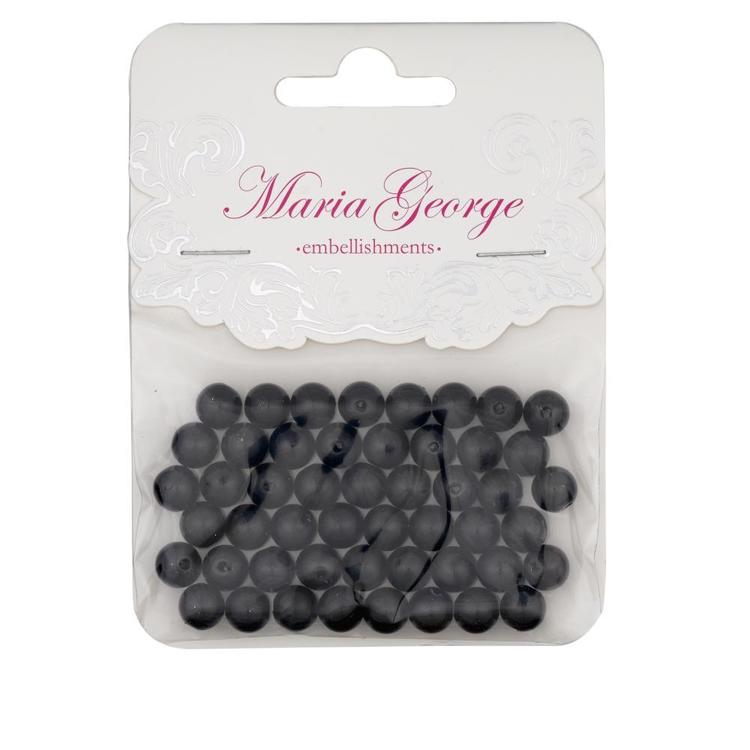 Maria George Pearls 50 Pieces Jet 8 mm