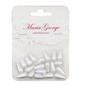 Maria George Teardrop Pearls 20 Pieces White