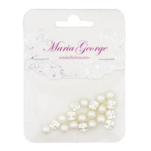 Maria George Half Pearl In Claw 20 Pieces
