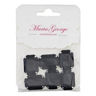 Maria George Emerald Rhinestones 6 Pieces