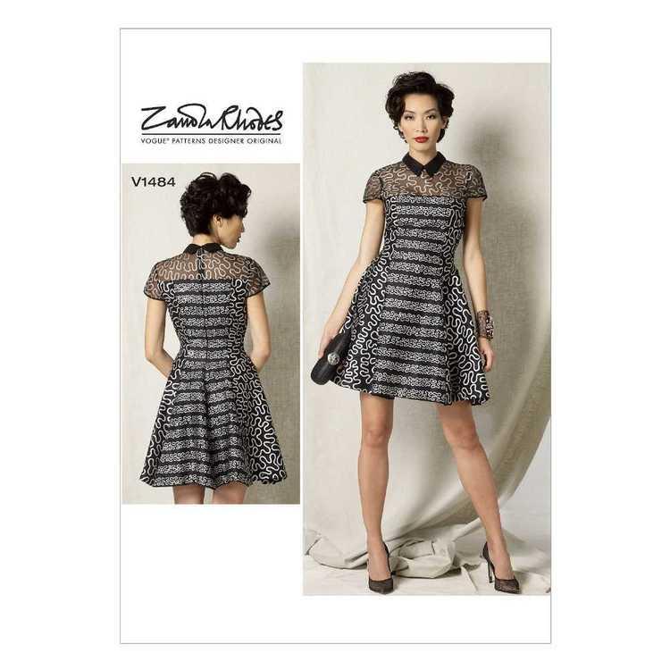 Vogue Pattern V1484 Misses' & Misses' Petite Fit & Flare Dress