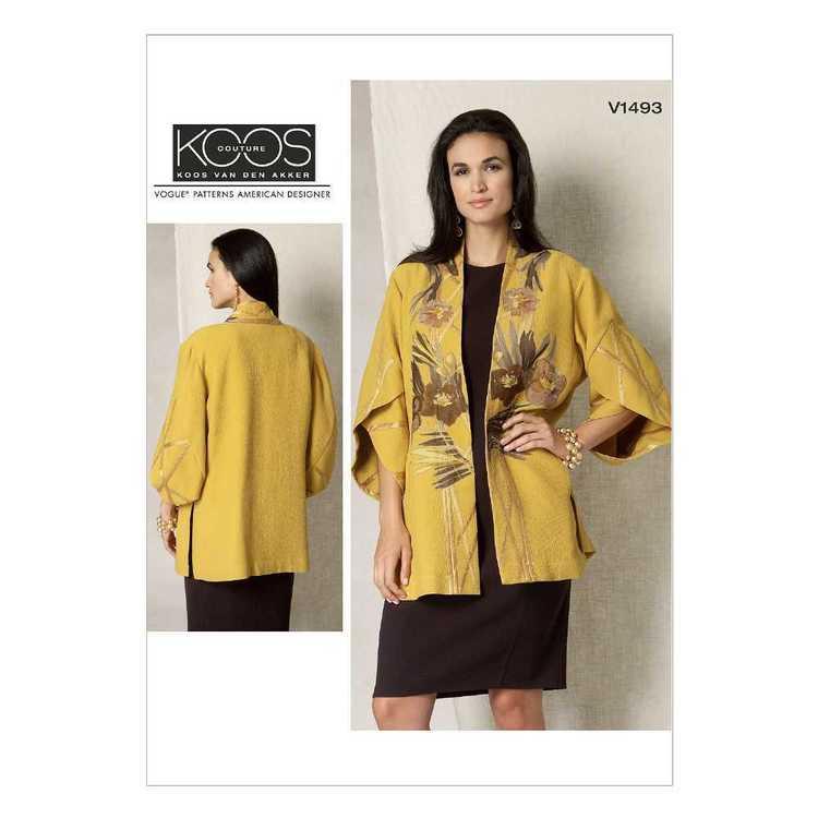 Vogue Pattern V1493 Misses' Tulip Banded-Sleeve Kimono Jacket