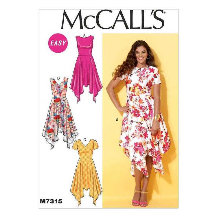 McCall's Pattern M7315 Misses' Handkerchief-Hem Dresses