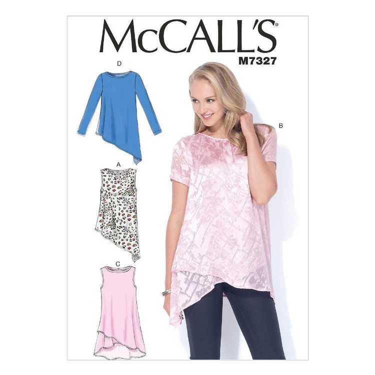 McCall's Pattern M7327 Misses' Shaped Hemline Tops