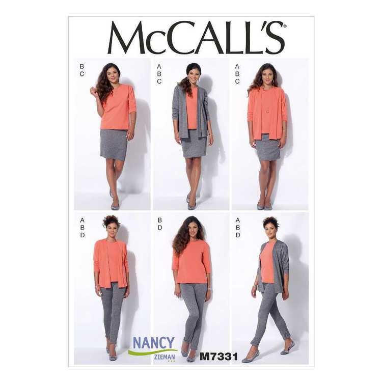 McCall's Pattern M7331 Misses' Cardigan