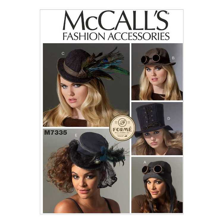 McCall's Pattern M7335 Hats in Five Styles