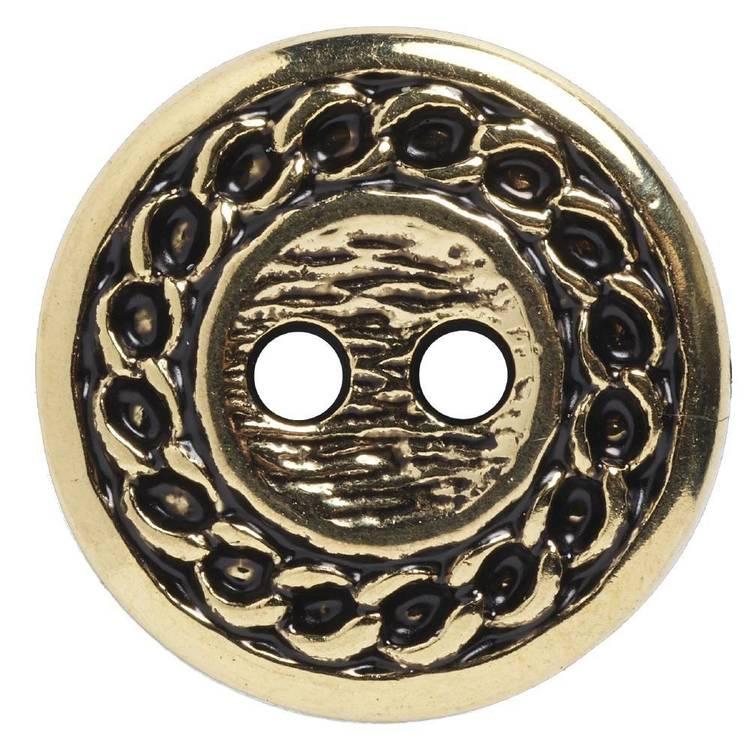 Hemline Metal Rope Edge Round 24 Button