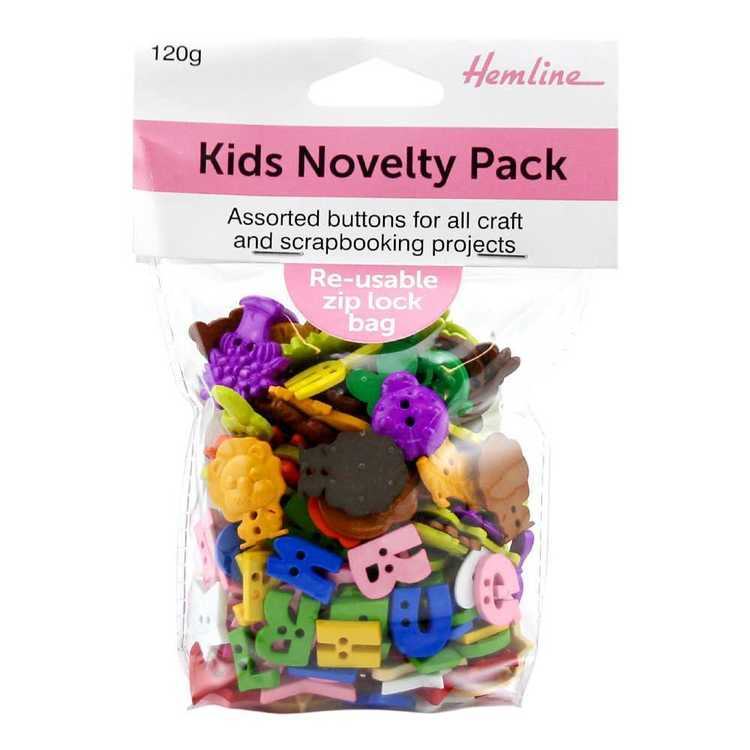 Hemline Kids Novelty Button Pack