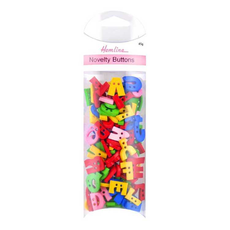 Hemline Alphabet Novelty Buttons