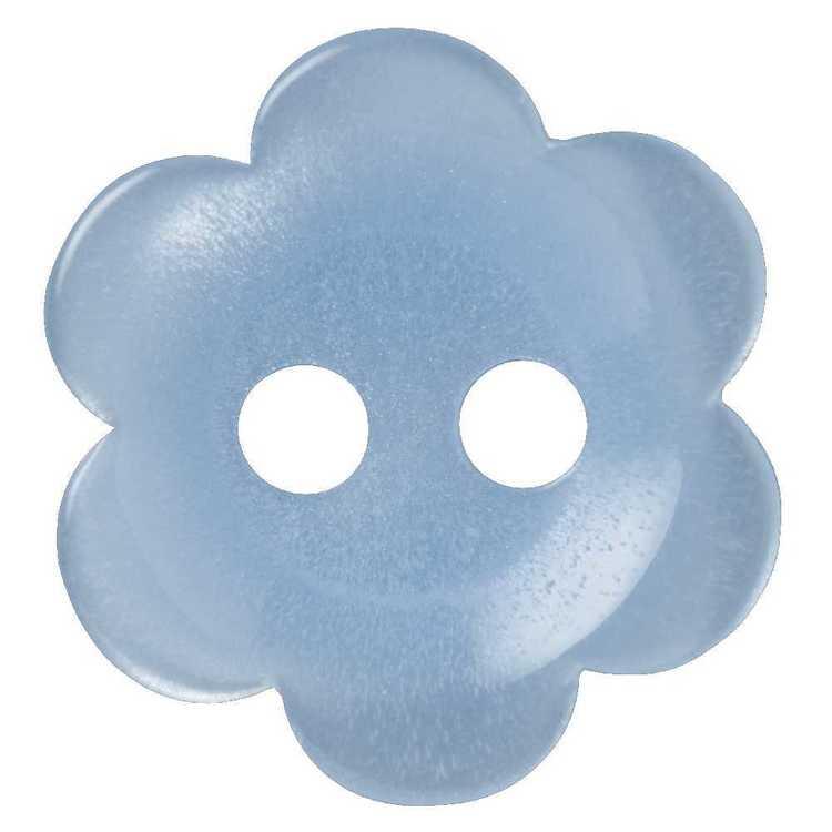 Hemline Flower Flat 2-Hole Opaque 16 Button