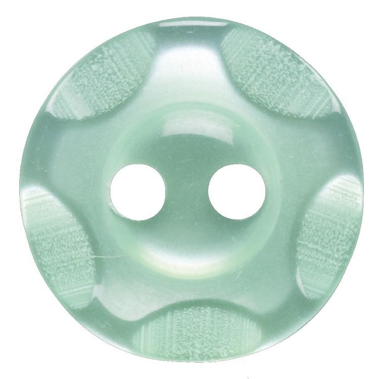 Hemline Wavy 2 Hole Opaque 22 Button