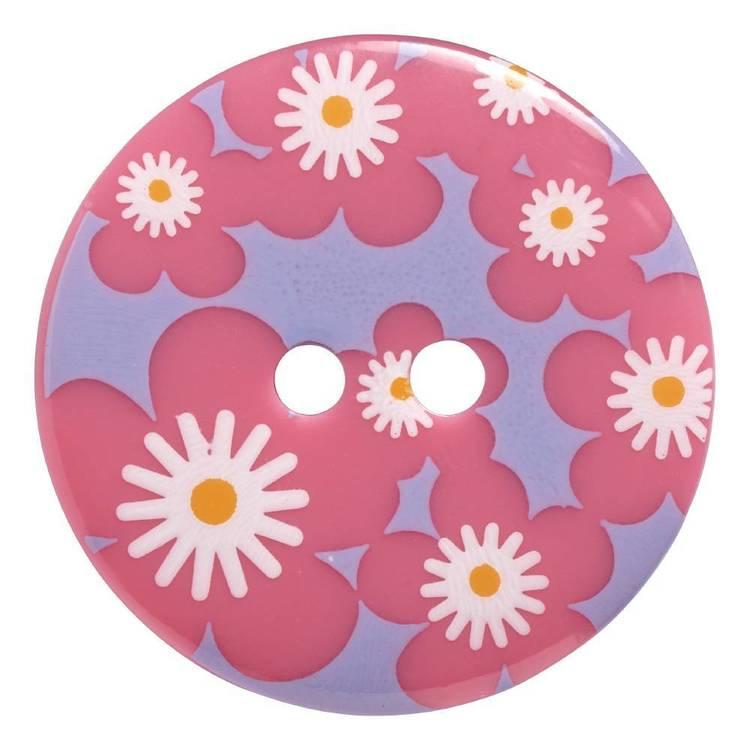Hemline Decorative Floral 36 Button