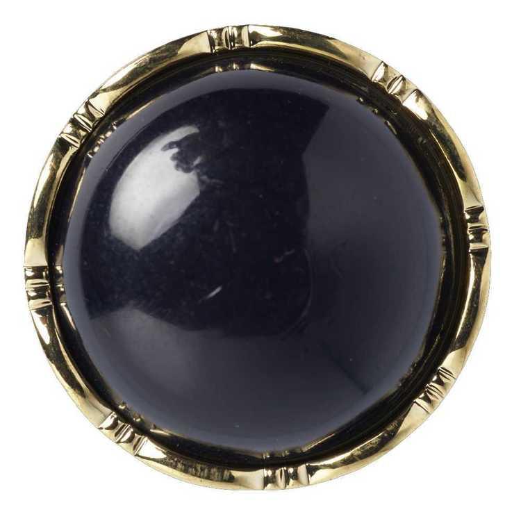 Hemline Decorative Gold Rim 34 Button
