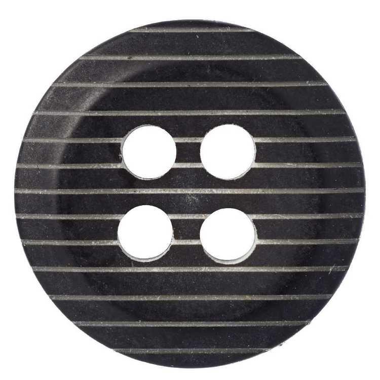 Hemline Mute Strip Embossed 4-Hole 18 Button
