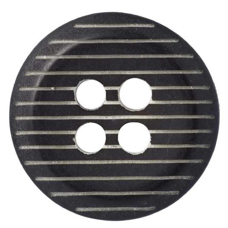 Hemline Mute Stripe Embossed 4-Hole 22 Button
