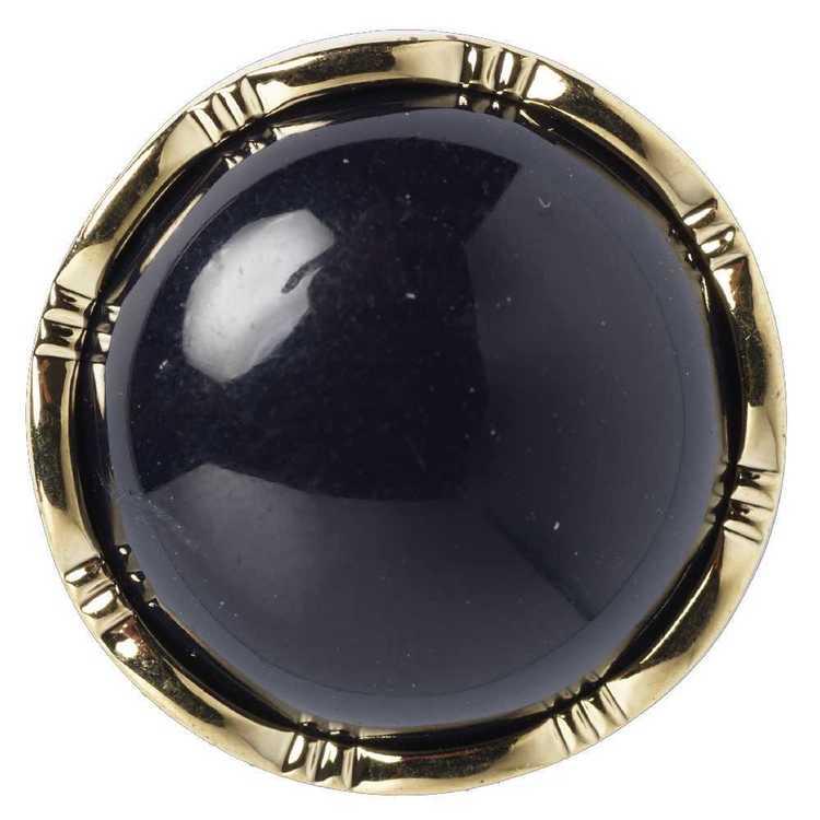 Hemline Decorative Gold Rim 28 Button