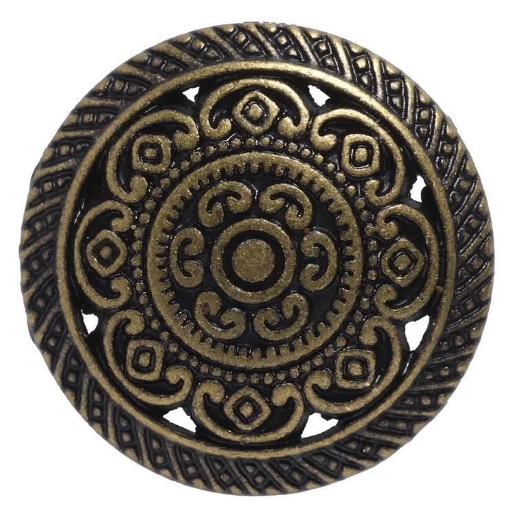 Hemline Metal Engraved Shank 24 Button