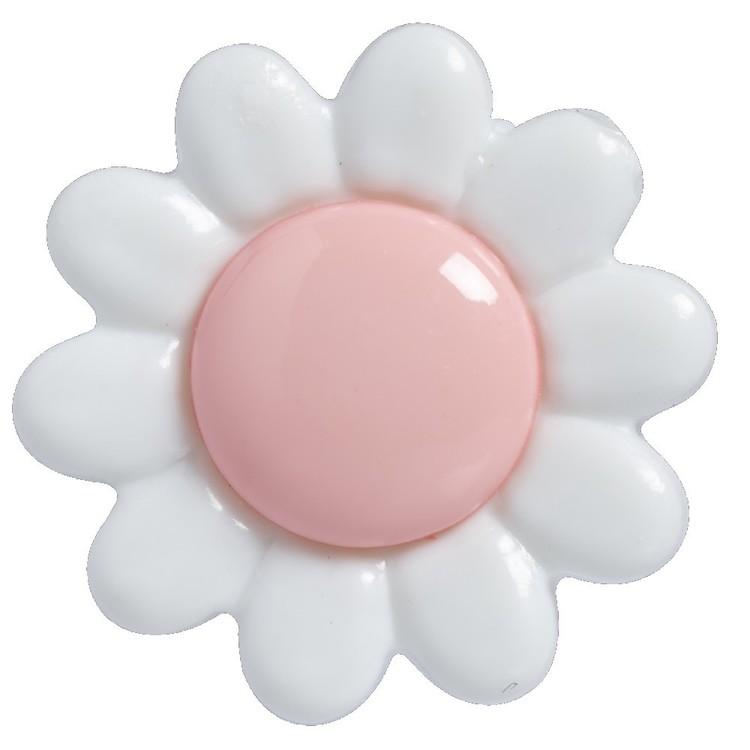 Hemline White Petal Daisy 22 Button