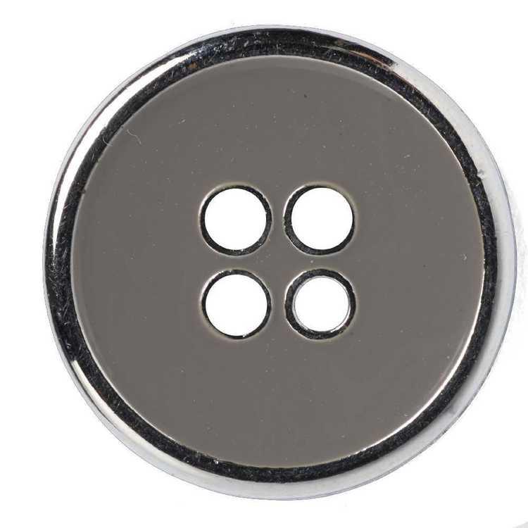 Hemline Silver Metal Inner 24 Button