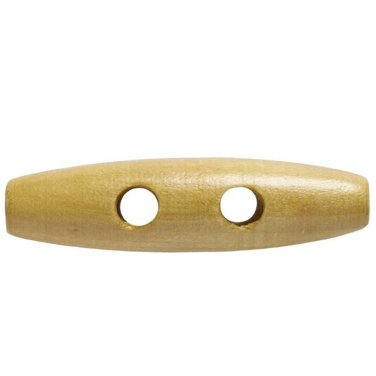 Hemline Toggles Mid Wood Tune Button
