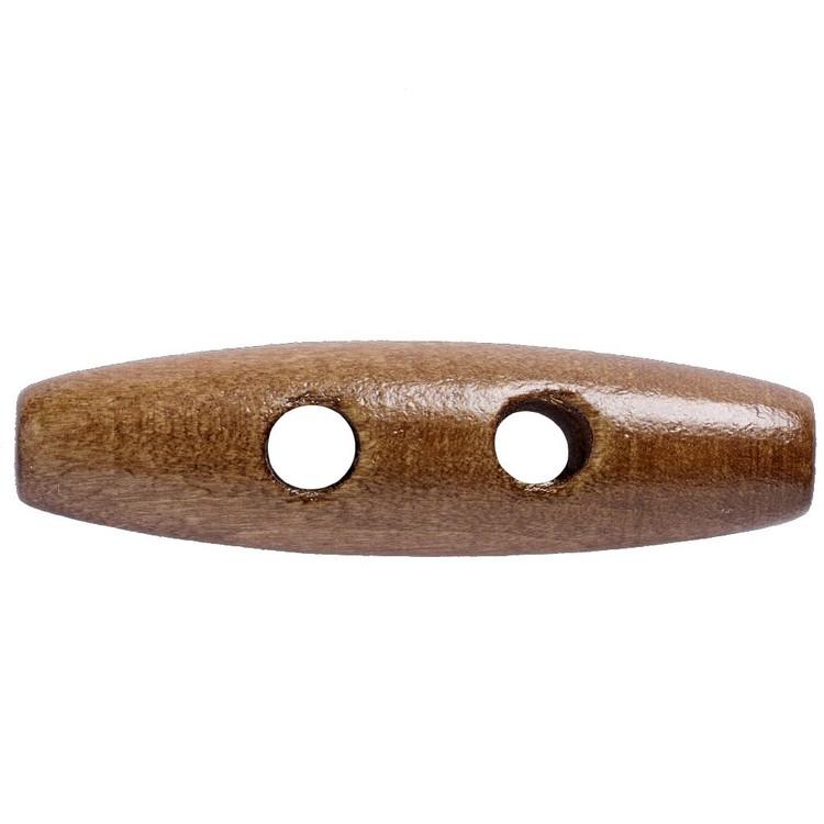Hemline Toggles Dark Wood Tune Button