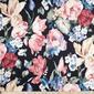 Floral Painted Cotton Sateen Black 127 cm