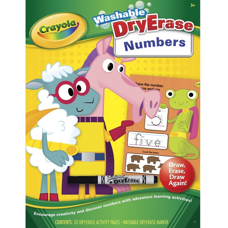 Crayola Dry Erase Numbers Workbook