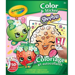 Crayola Shopkins Colour & Sticker Book