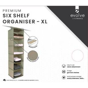 Evolve Lifewares Premium 6 Shelf Organiser