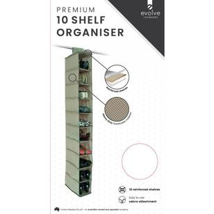 Evolve Lifewares Premium 10 Shelf Organiser