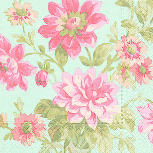 Paper Plus Design Painted Dahlias Luncheon Napkin
