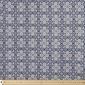 Mosaic Rayon Blue & White 114 cm