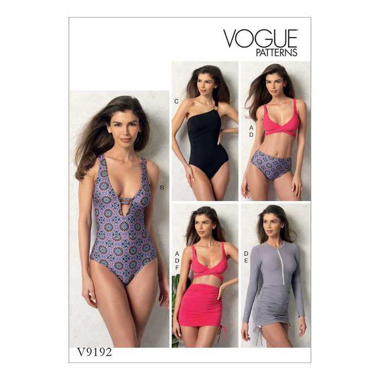 Vogue Pattern V9192 Misses' Wrap-Top Bikini