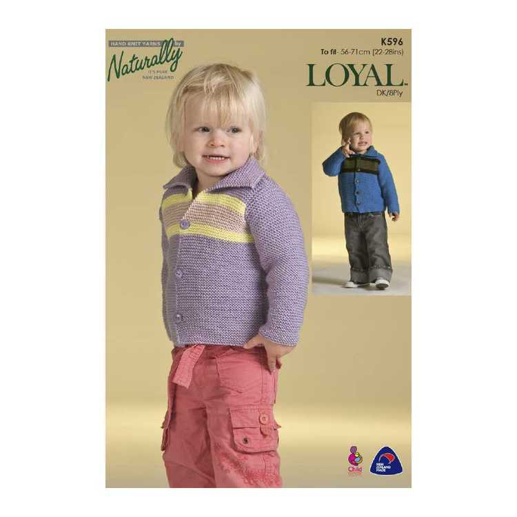 Naturally Loyal 8 Ply Baby 2 K596 Pattern Book White