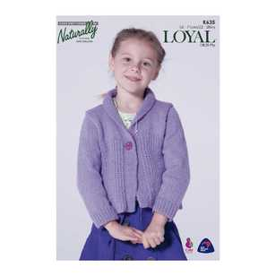 Naturally Loyal 8 Ply Girl Cardigan K635 Pattern Book