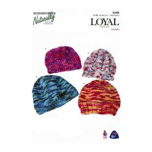 Naturally Loyal 8 Ply Kids Printed Hats K684 Pattern Book