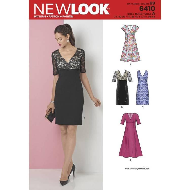 New Look Pattern 6410 Misses' Dress