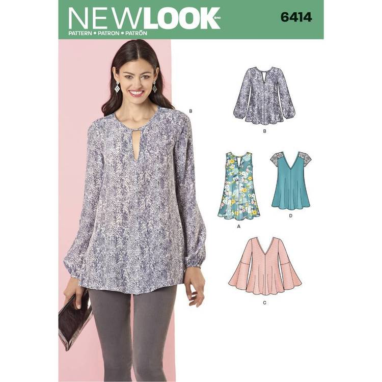 New Look Pattern 6414 Misses' Tunic & Top