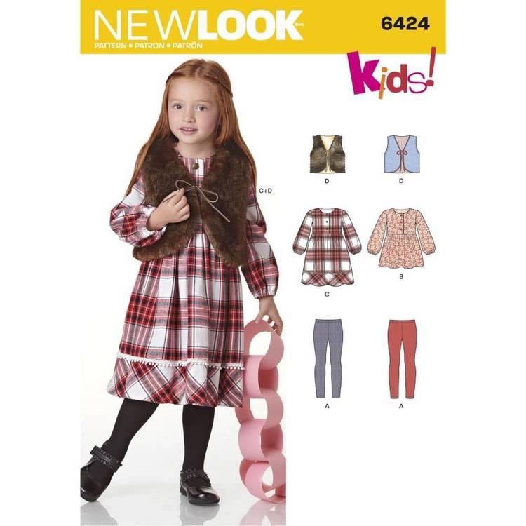 New Look Pattern 6424 Child's Dress