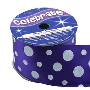 Celebrate Multi Sized Spots Satin Ribbon