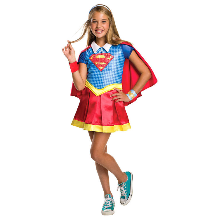 DC Comics Super Girls Supergirl Costume Multicoloured 6 - 8 Years