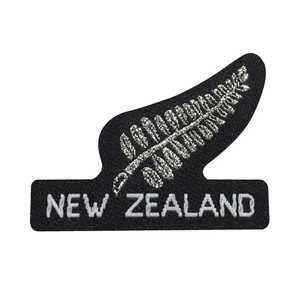 New Zealand Small Silver Fern With Letters Motif