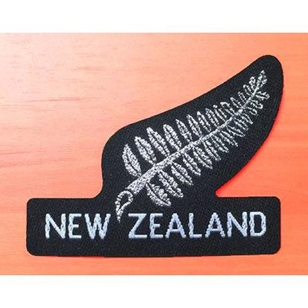New Zealand NZ Large Silver Fern Motif